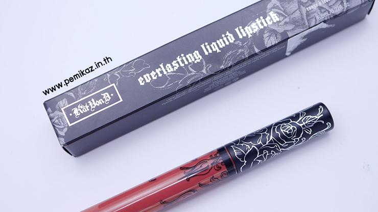รีวิว Kat Von D Everlasting Liquid Lipstick สี Lolita2 ลิปเนื้อแน่น ติดทนทั้งวัน