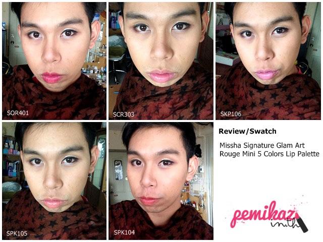 Review/Swatch : Missha Signature Glam Art Rouge Mini 5 Colors Lip Palette