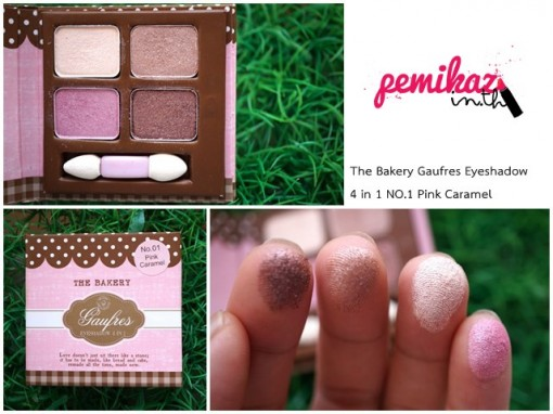 The Bakery Gaufres Eyeshadow 4 in 1 NO.1 Pink Caramel