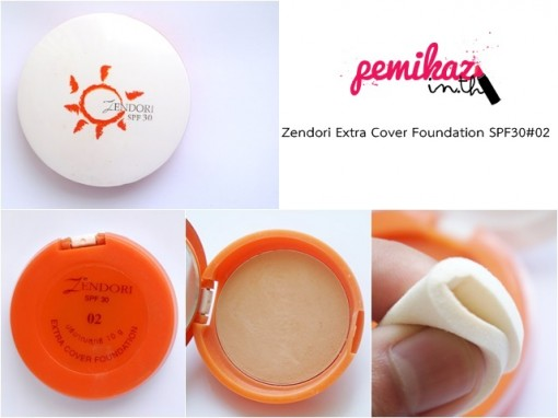 zendori ตลับส้ม extra cover foundation 2