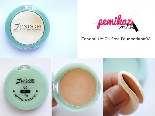 zendori ตลับเขียว UV OIL FREE Foundation 2