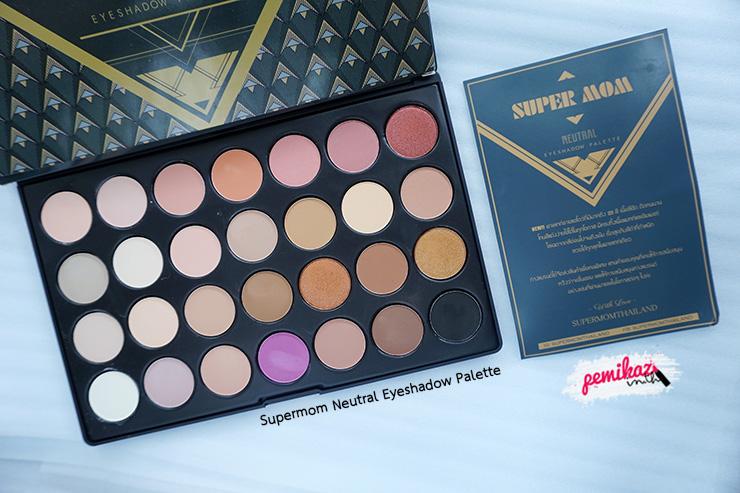 เปมิกาปาดสีเน้นๆ Supermom Neutral Eyeshadow Palette 28 สี!