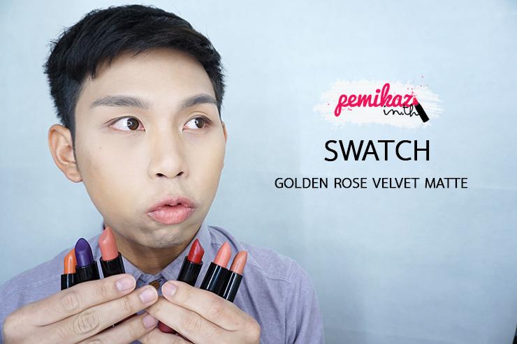เปมิการีวิว Golden Rose Velvet Matte Lipstick
