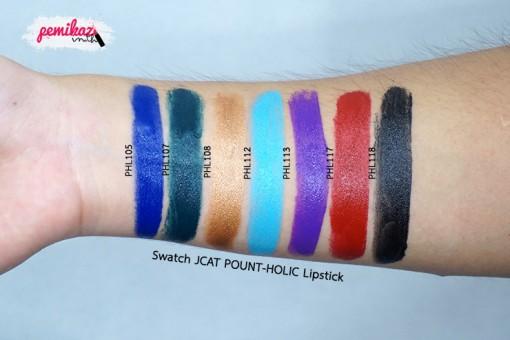 swatch-JCAT-POUNT-HOLIC-Lipstick