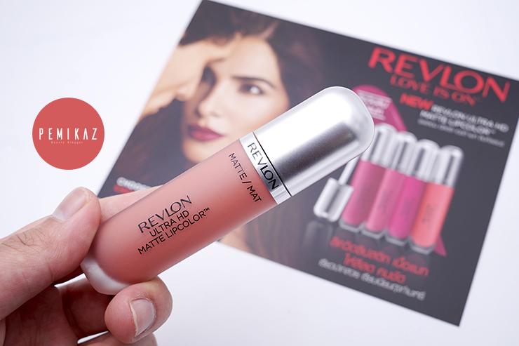 เปมิการีวิวลิปจุ่มแมท Revlon Ultra HD Matte Lipcolor ปากแห้งใช้ได้ ติดทนทั้งวัน