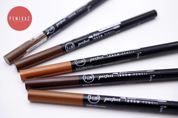เปมิการีวิว Jcat Perfect Duo Brown Pencil 5 สีจัดเต็ม ติดทนตลอดทั้งวัน