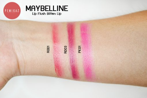 Maybelline-Lip-Flush-Bitten-Lip-swatch
