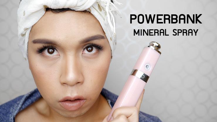 รีวิว Powerbank Mineral Spray ที่ชาทแบตสำรอง+สเปรย์น้ำแร่ 0.3 ไมครอน!