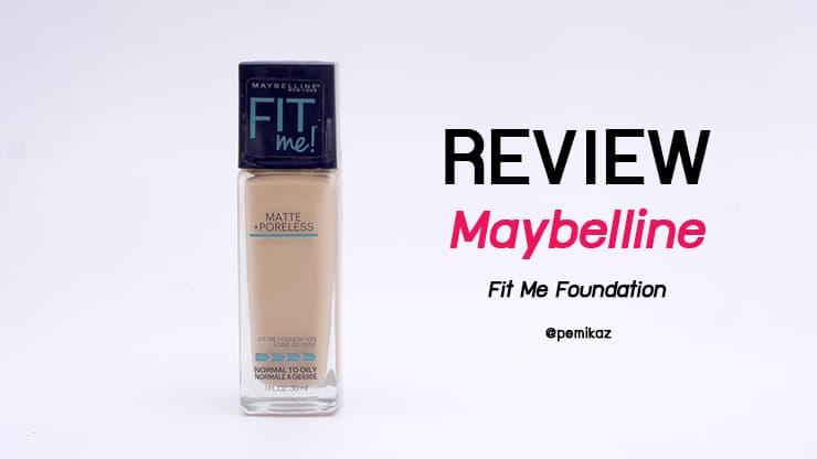 รีวิว Maybelline Fit Me Foundation รองพื้นถูกและดี NC30-35 ใช้สีอะไรนะ?