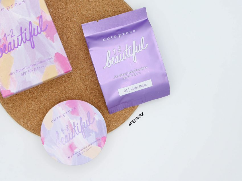 รีวิว Cutepress 1-2 Beautiful Airy Matte Cushion SPF50 PA+++